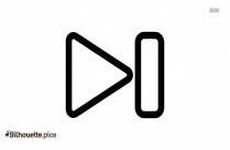 Next Track Symbol Silhouette Image