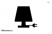 Floor Lamp Silhouette Image Vector