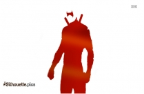 Kids Dressed As Superheroes Silhouette