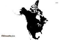 North America Map Silhouette Drawing