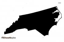 North Carolina Map Clipart Silhouette