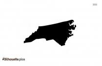 North Carolina Map Symbol Silhouette