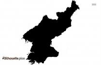 North Korea Map Silhouette Image