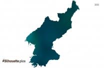North Korea Map Vector Silhouette Image