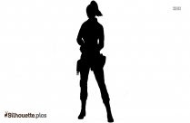 Cartoon Woman Clipart And Vector Silhouette