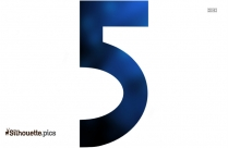 Number 5 Silhouette Vector And Graphics