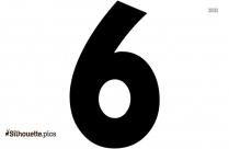 Number 6 Silhouette Illustration