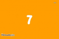 Number 7 Font Silhouette