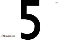 Number Five Silhouette Image And Vector