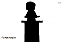 Little Boy Standing Silhouette Clip Art