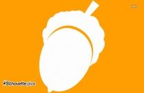 Acorn Silhouette Clipart