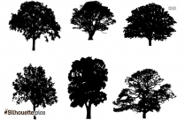 Tall Trees Silhouette Clip Art