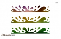 Ocean Border Silhouette Vector And Graphics