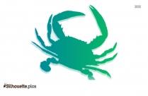 Ocean Crab Silhouette Icon