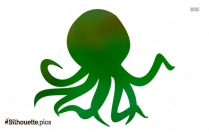 Octopus Silhouette Vector Clipart