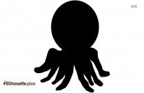 Octopus Cartoon Silhouette