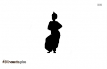 Odissi Silhouette Drawing