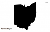 Ohio Map Silhouette Clipart