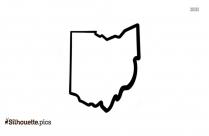 Ohio State Outline Silhouette