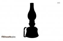 Oil Lamp Image Silhouette
