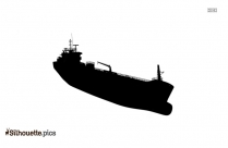 Simple Cargo Ship Silhouette Picture