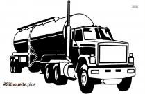 Oil Tanker Truck Silhouette