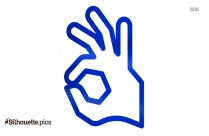 Ok Hand Sign Clipart Silhouette