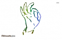 Okay Super Hand Gesture Silhouette