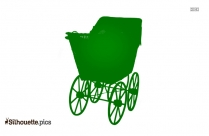 Old Baby Carriage Silhouette Picture
