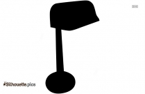 Old Desk Lamp Silhouette Drawing