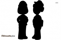 Old Fashioned Couple Silhouette