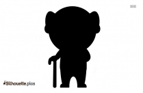 Silhouette Of Grandfather