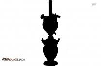 Old Kerosene Lanterns Clipart, Silhouette