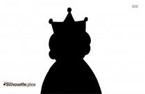 Old Lady Queen Silhouette