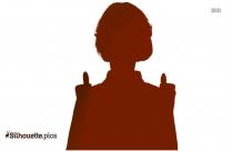 Open Hand Silhouette Illustration, Vector