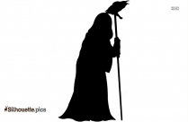 Witch Flying Illustration Silhouette