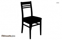 Old Wood Chair Silhouette Illustration