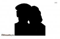 Older Couple Love Clip Art Illustration
