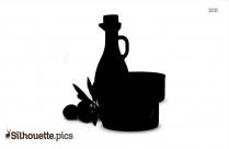 Olive Oil Tuna Silhouette