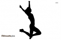 Olympic Athlete Long Jump Silhouette