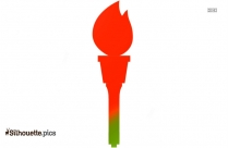 Olympic Flame Silhouette Vector Illustration
