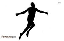 Boy Running Silhouette Image