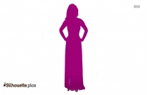 Ombre Maxi Dress Silhouette, Vector