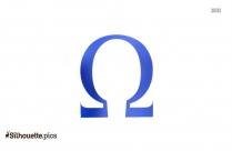 Omega Symbol Silhouette