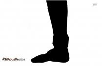 One Leg Silhouette