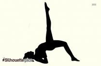 One Legged Bridge Yoga Silhouette