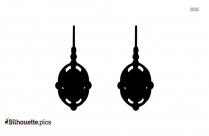 Hanging Earrings Silhouette Background