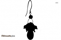 Round Earring Silhouette, Accessories Graphics