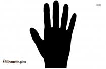Waving Hand Vector Silhouette