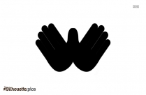 Pointing Hand Silhouette, Hand Gesture Clipart